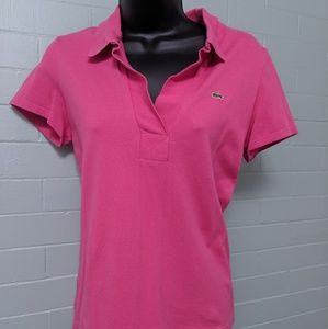 Lacoste Tops - Lacoste pink Polo shirt French 42 Fits like M